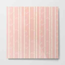 Fly Home Collection- Cream Reed Metal Print