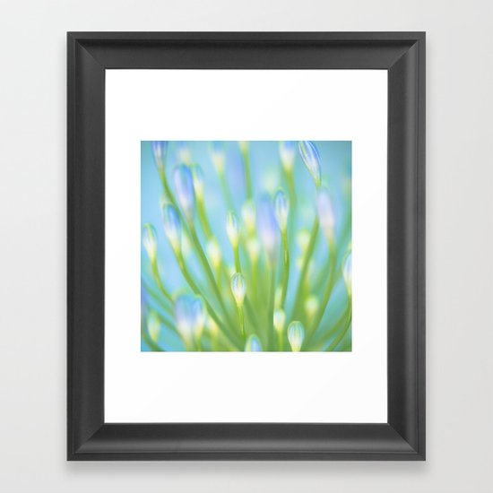 Blue & Green Framed Art Print