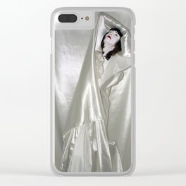 """say no to patriarchy / """"the drama"""" Clear iPhone Case"""