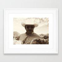 cowboy Framed Art Prints featuring Cowboy by DistinctyDesign