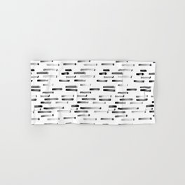 Noir grunge || painted stripes Hand & Bath Towel