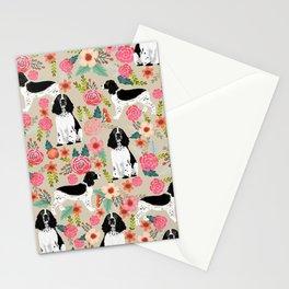 English Springer Spaniel dog breed florals dog gifts for dog lovers dog breeds Stationery Cards