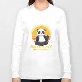 Mostly Peace Love Light And A Little go F You Long Sleeve T-shirt