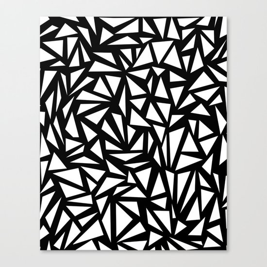 Try Me - memphis modern black and white minimal angular geometric triangle fun 1980s retro  Canvas Print