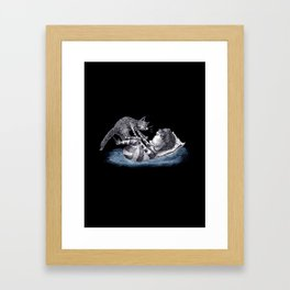 Cedric and Pitchfork Framed Art Print