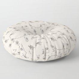 Skeleton Yoga Floor Pillow