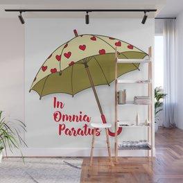 In Omnia Paratus - Umbrella Design Wall Mural