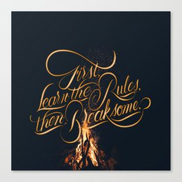 First Learn - Fire Canvas Print