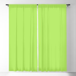From The Crayon Box – Inch Worm Green - Bright Lime Green Solid Color Blackout Curtain