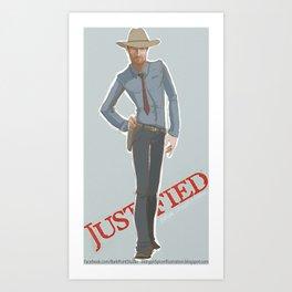 Justified Art Print