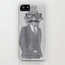 The Gentlemanly Squiggle iPhone Case