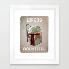 Life is Bountiful Framed Art Print