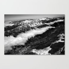 View from Mont Blanc of Chamonix, France. Canvas Print