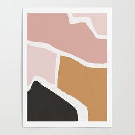 Rheia - earthtones minimal abstract art print Poster
