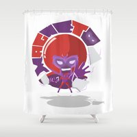 magneto Shower Curtains featuring Magneto (style) by Seez