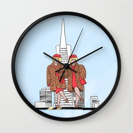 San Francisco's iconic Brown Twins Wall Clock