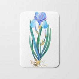 Light Blue Iris Bath Mat