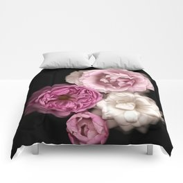 Purple, Pink, and White Roses Comforters
