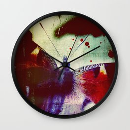 Fear of Butterflies Wall Clock