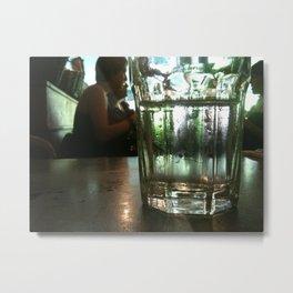 Glass of Water Metal Print