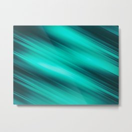 Abstract background blur motion green style Metal Print