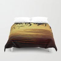 jazzberry Duvet Covers featuring Honey Ripples by Donuts