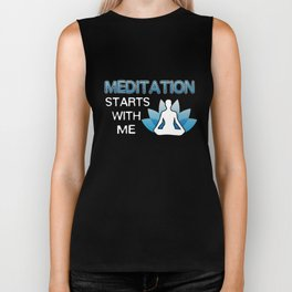 Yoga T-Shirt Meditation Starts With Me Yoga Player Gift Tee Biker Tank