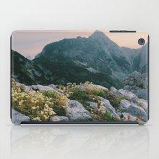 Mountain flowers at sunrise iPad Case