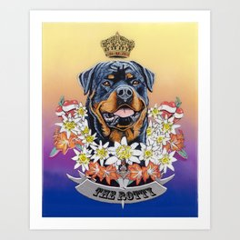 The Rotty Art Print