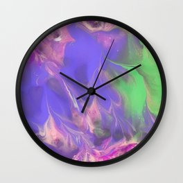 Frosted Spring Wall Clock
