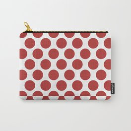 CVPA20032 Large Polka Dots Firebrick Red White Carry-All Pouch