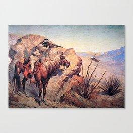 "Frederic Remington Western Art ""Apache Ambush"" Canvas Print"