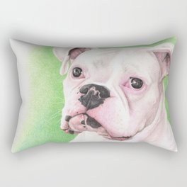 The White Boxer Rectangular Pillow