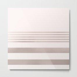 Rose Gold and Pink Stripes Mix Pattern 1 Metal Print
