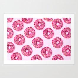 Pink Donuts Art Print