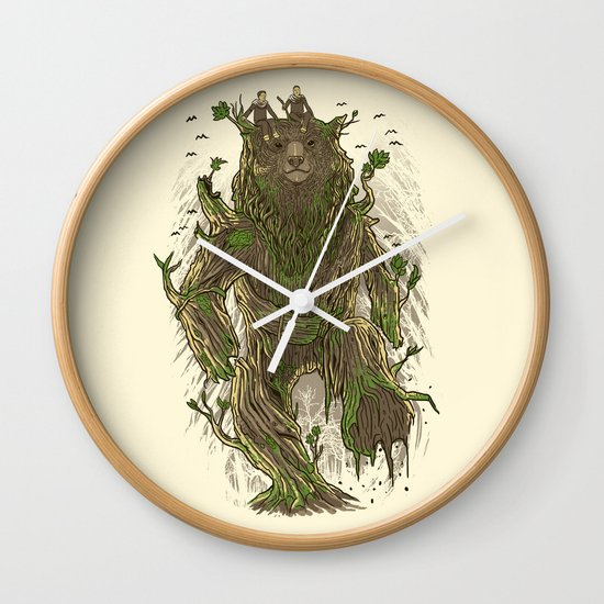 Treebear Wall Clock