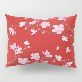Cherry Blossom - Red Pillow Sham