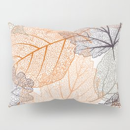 Fall, Leaves Print, Nature Art, Abstract Pillow Sham