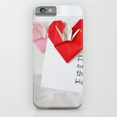 Friendship Comes from the Heart - Origami iPhone 6s Slim Case