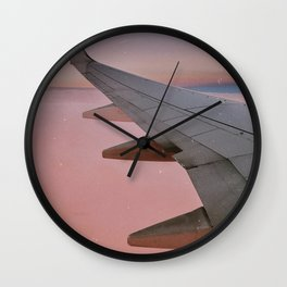 head in the (sunset) clouds  Wall Clock