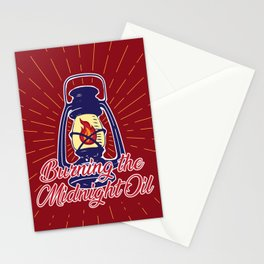 Midnight Oil - Red Stationery Cards