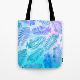 Feathers on Watercolor Background Tote Bag