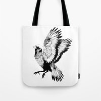 sparrow Tote Bags featuring Sparrow by akreon