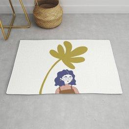 Palm Tree Girl Rug