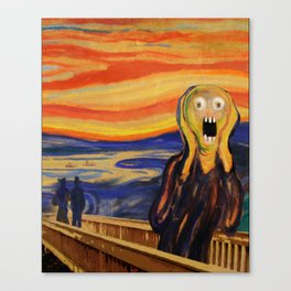 The Screamer - Really Freaked Out Canvas Print