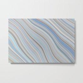 Mild Wavy Lines X Metal Print