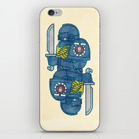 warhammer iPhone & iPod Skins featuring Space Marine - Warhammer 40k by M. Gulin
