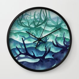 Herding Mountains Wall Clock