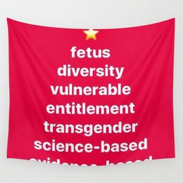 Banned Words for the Holiday Season Wall Tapestry
