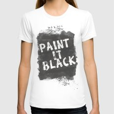 Paint It Black Womens Fitted Tee SMALL White